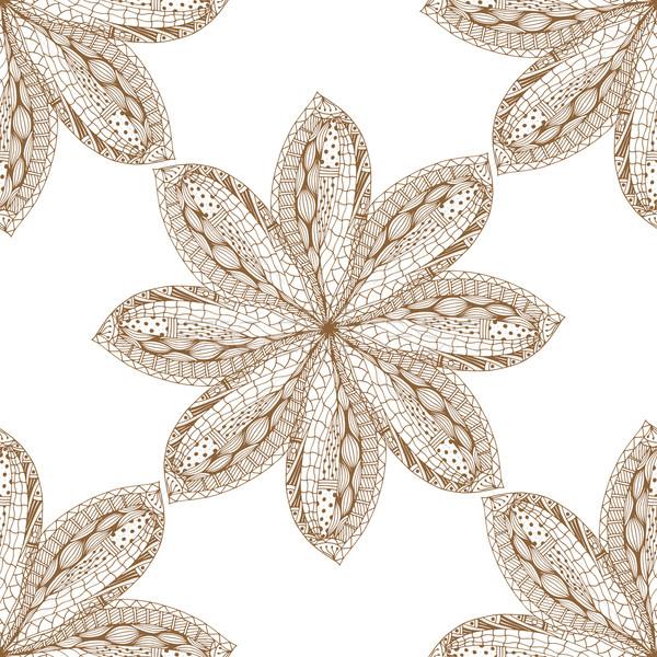 Marrón oriental vector aislado Foto stock © frescomovie