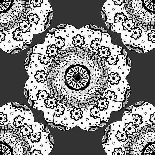 seamless monochrome pattern. Stock photo © frescomovie