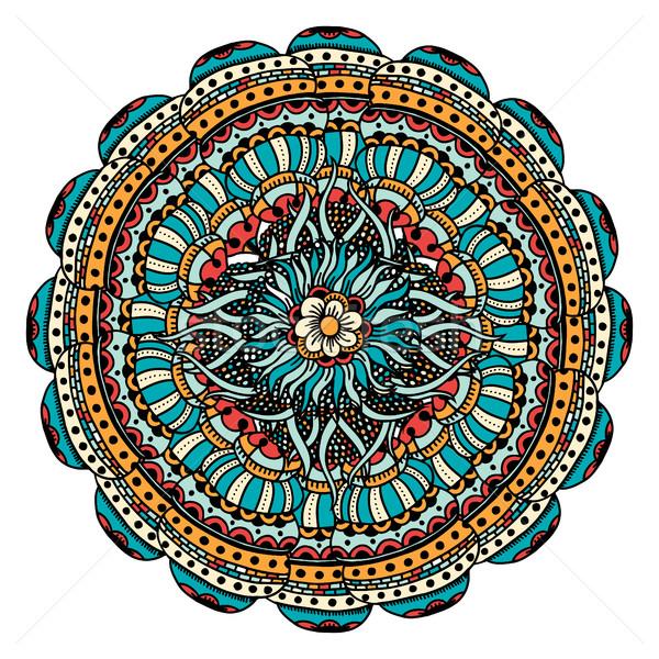 Vettore colorato mandala isolato bianco luce Foto d'archivio © frescomovie