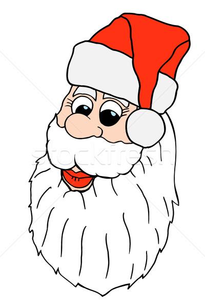 Stock photo: Santa claus face