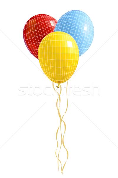 Groep ballonnen zichtbaar geïsoleerd witte Stockfoto © frescomovie