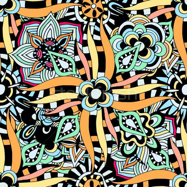 Vector seamless ethnic pattern Stock photo © frescomovie