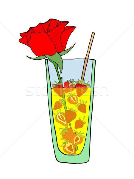 Tropical Love cocktail Stock photo © frescomovie