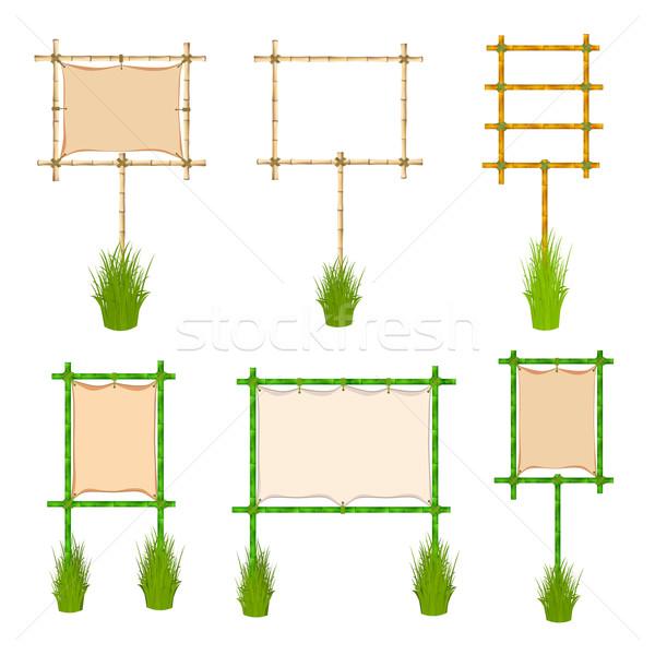 Bamboo frame Stock photo © frescomovie