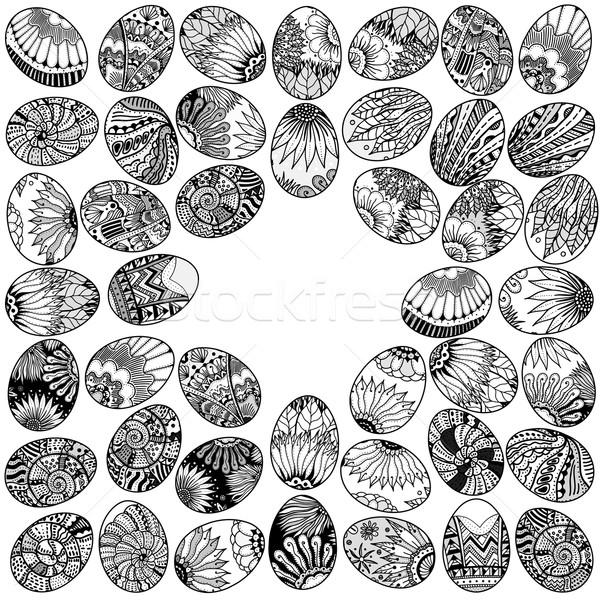 eggs background pattern Stock photo © frescomovie