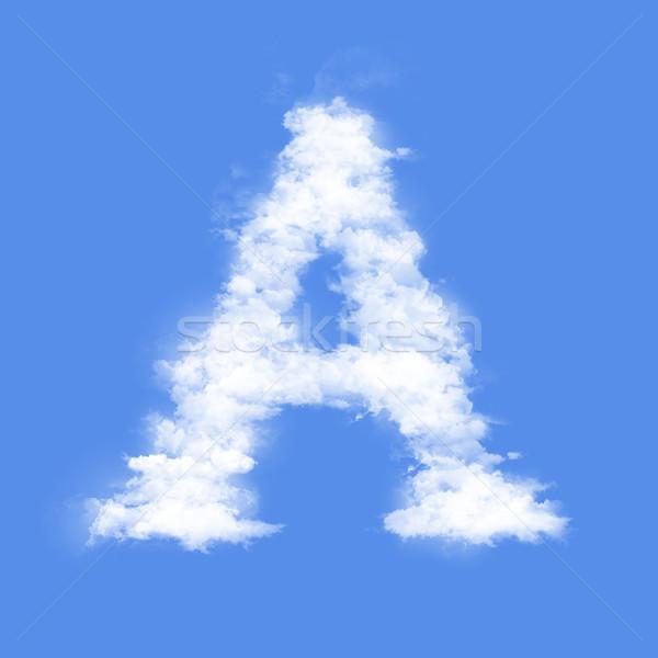 Lettera nubi cielo fumo Meteo Foto d'archivio © frescomovie