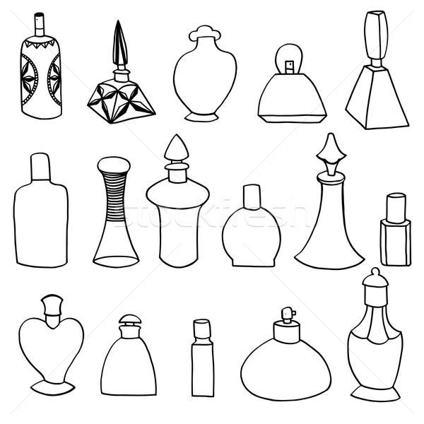 Isolado perfume garrafas conjunto simples corpo Foto stock © frescomovie