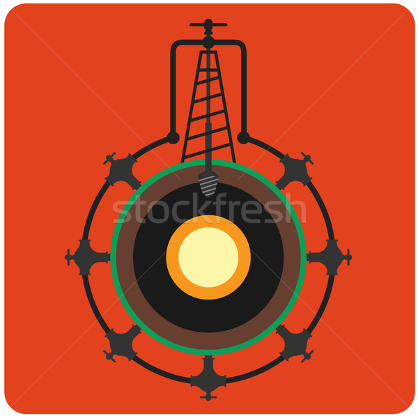 Oil mining Stock photo © frescomovie