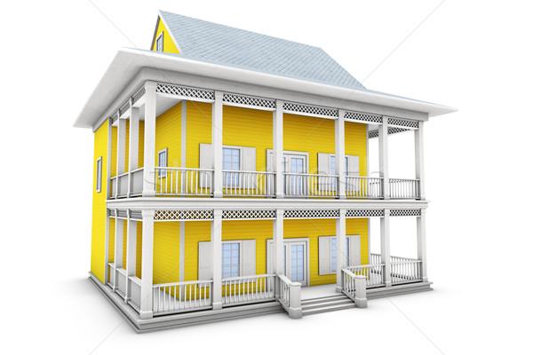 3D casa novo família casa ilustração 3d Foto stock © frescomovie