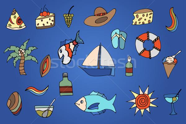 été main image poissons Photo stock © frescomovie