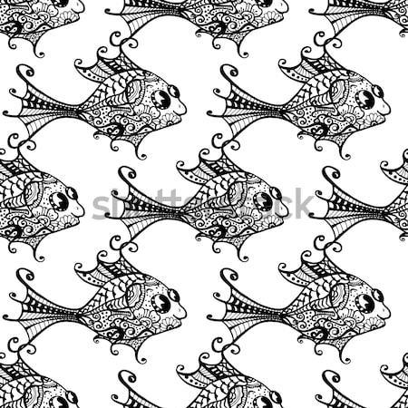 seamless fish Stock photo © frescomovie