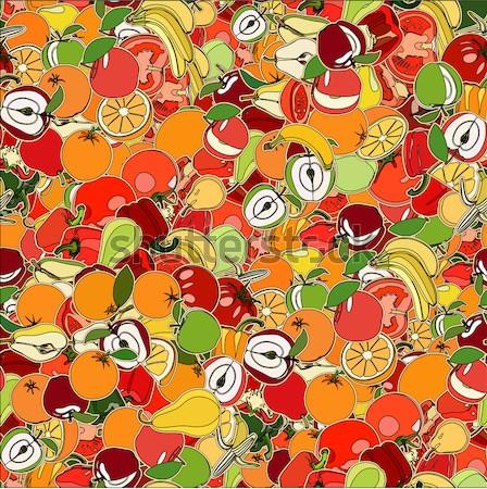 Vruchten vegetatie collectie ingesteld cute illustratie Stockfoto © frescomovie