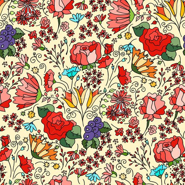 Flores decorativo vector tarjeta ilustración Foto stock © frescomovie