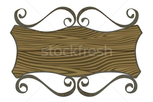 Tarcza zardzewiałe metal Zdjęcia stock © frescomovie