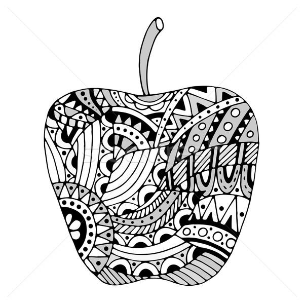 Zentangle stylized apple Stock photo © frescomovie