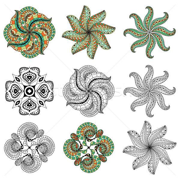 Süs model ayarlamak bağbozumu dekoratif elemanları Stok fotoğraf © frescomovie