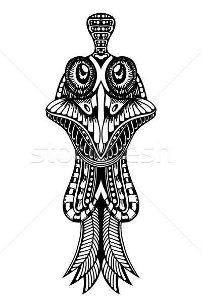 Zentangle stylized Cock Stock photo © frescomovie