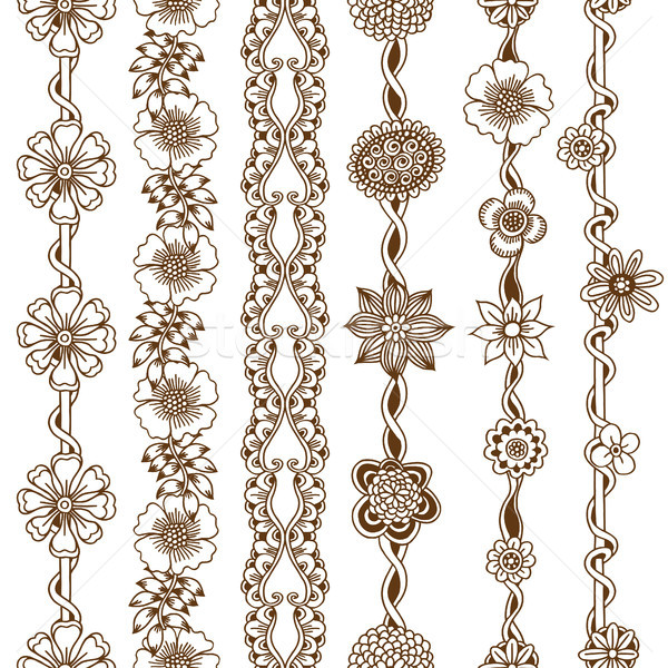 Vector set vintage ornate borders Stock photo © frescomovie