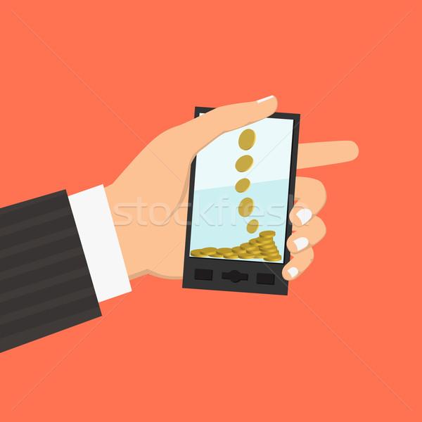 Iş dizayn stil hareketli kredi kartı Stok fotoğraf © frescomovie