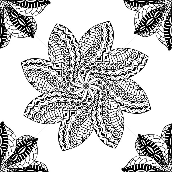 seamless black pattern Stock photo © frescomovie