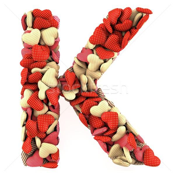 Levél puha párnák forma szívek absztrakt Stock fotó © frescomovie