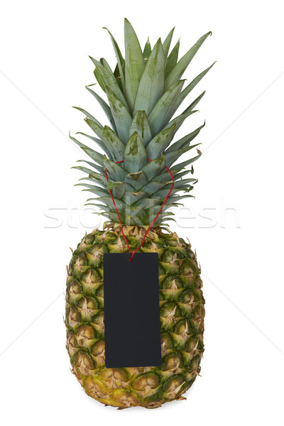 Photo stock: Ananas · vide · prix · tag · isolé