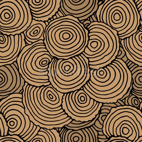 Ağaç halkalar vektör orman harita Stok fotoğraf © frescomovie