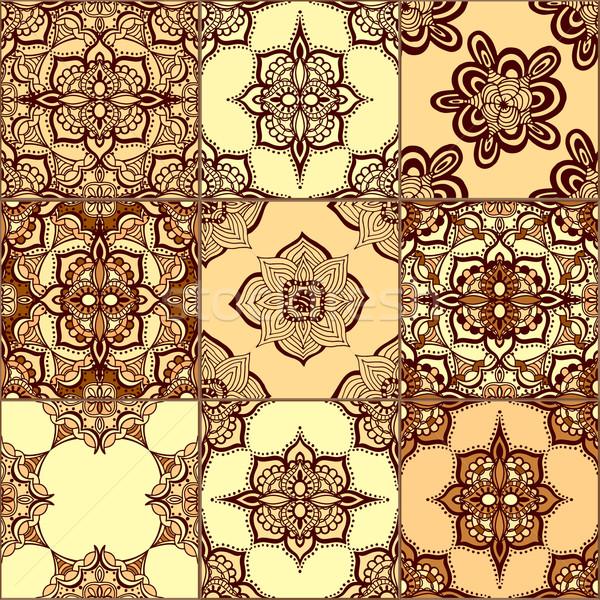 Tiles Floor Ornament Collection Stock photo © frescomovie