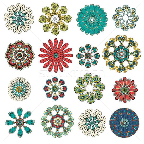 Ornament patroon ingesteld vintage decoratief communie Stockfoto © frescomovie