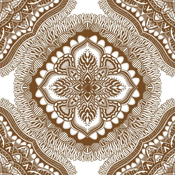 ブラウン 手描き エンドレス テクスチャ することができます ストックフォト © frescomovie