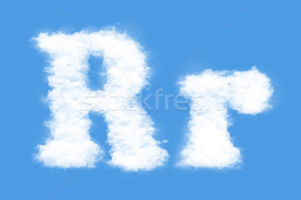 Levél felhők forma r betű égbolt füst Stock fotó © frescomovie