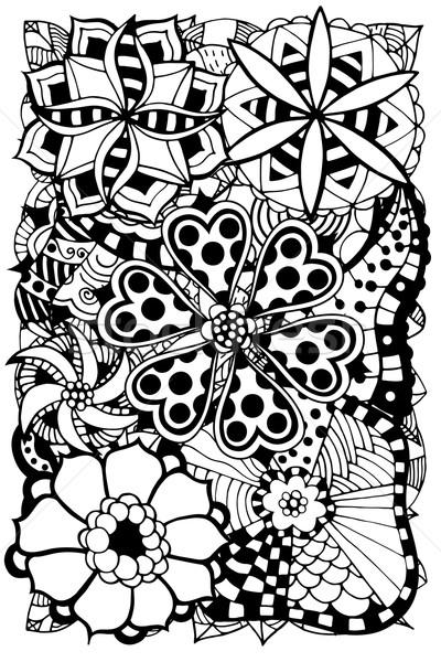 Firka virágok kisebbségi virágmintás minta kör Stock fotó © frescomovie