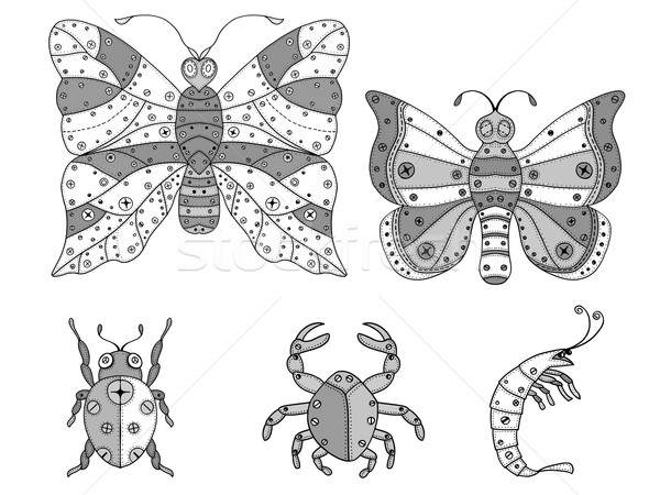 zentangle insects illustration. Stock photo © frescomovie