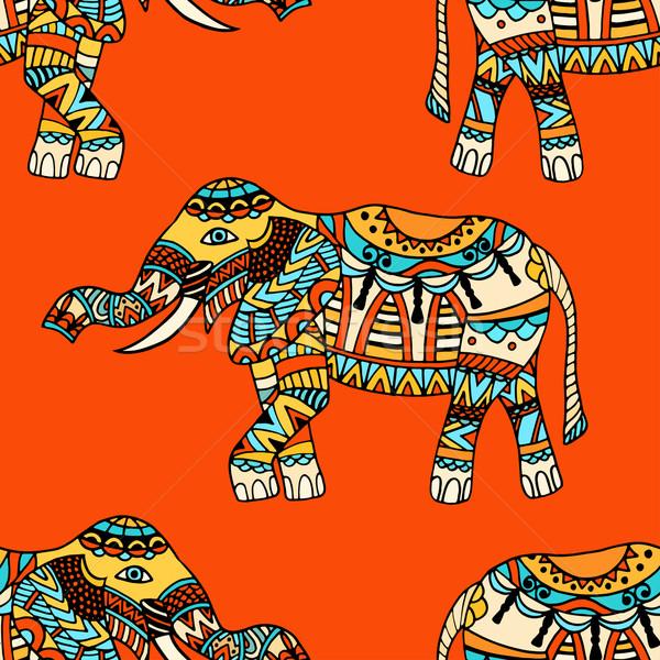 Photo stock: Vecteur · texture · stylisé · indian
