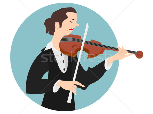 Violinist Stock photo © frescomovie