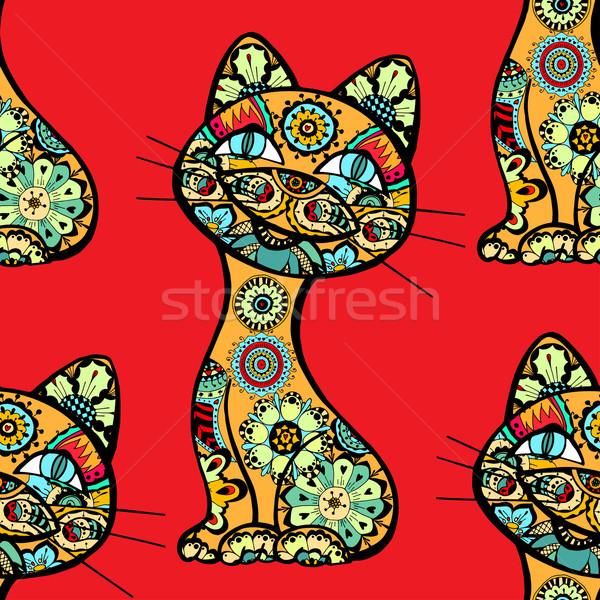 funny cats background Stock photo © frescomovie
