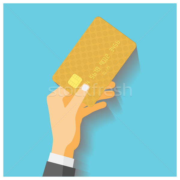 Hand hold credit card Stock photo © frescomovie