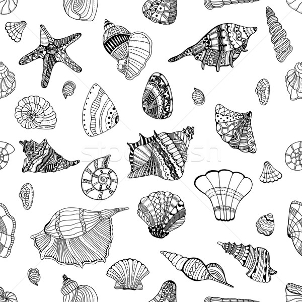seashell seamless pattern Stock photo © frescomovie