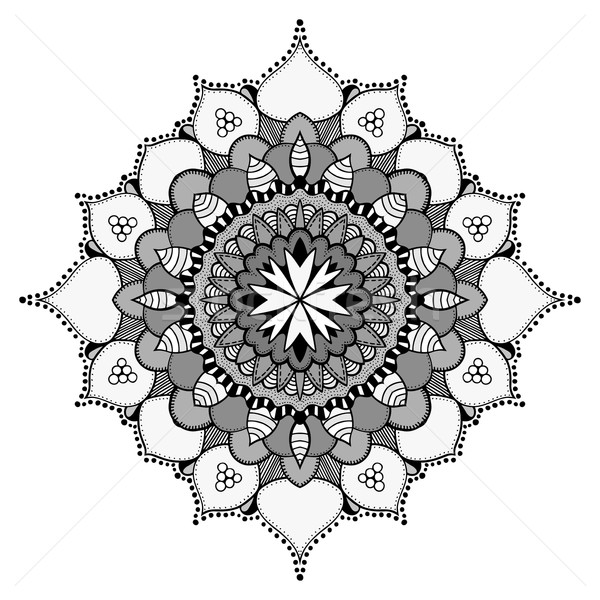 Mandala étnicas ornamento vector círculo Foto stock © frescomovie