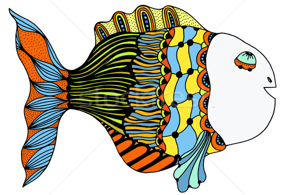 Stylized Hand Drawn Fish Stock photo © frescomovie