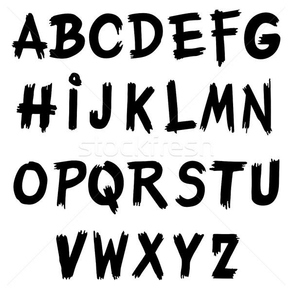 Alphabet Capital letters. Stock photo © frescomovie