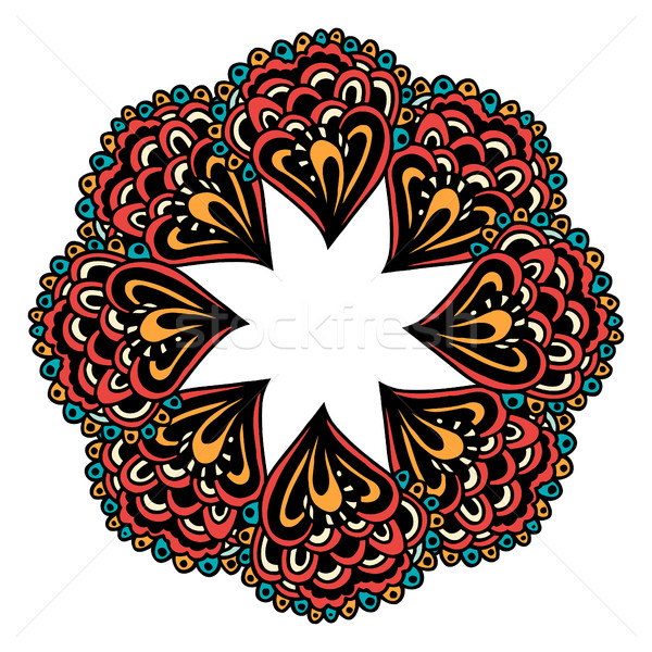 色 カード 曼陀羅 飾り ヴィンテージ 装飾的な ストックフォト © frescomovie