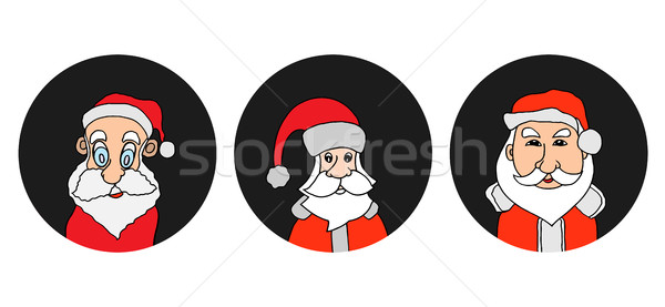 サンタクロース カラフル 歳の男性 白 あごひげ ストックフォト © frescomovie