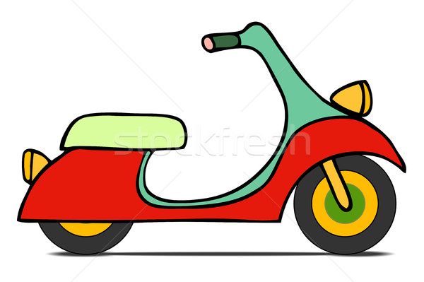isolated Classic moped Stock photo © frescomovie