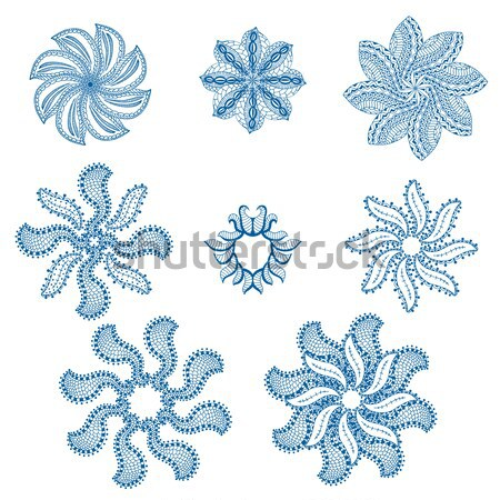 Patchwork modèle bleu tuiles Photo stock © frescomovie