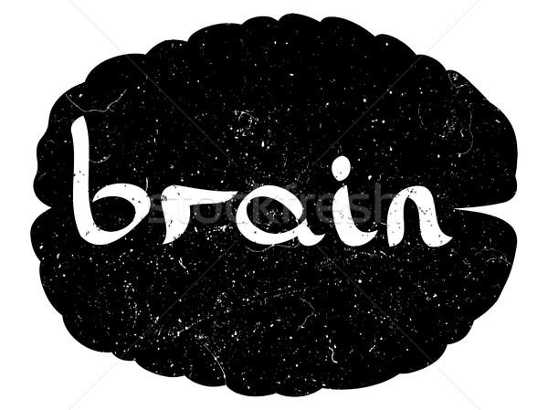 text with hand drawn brain Stock photo © frescomovie