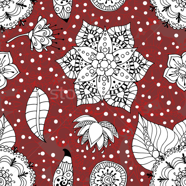 Stock photo: Floral seamless pattern