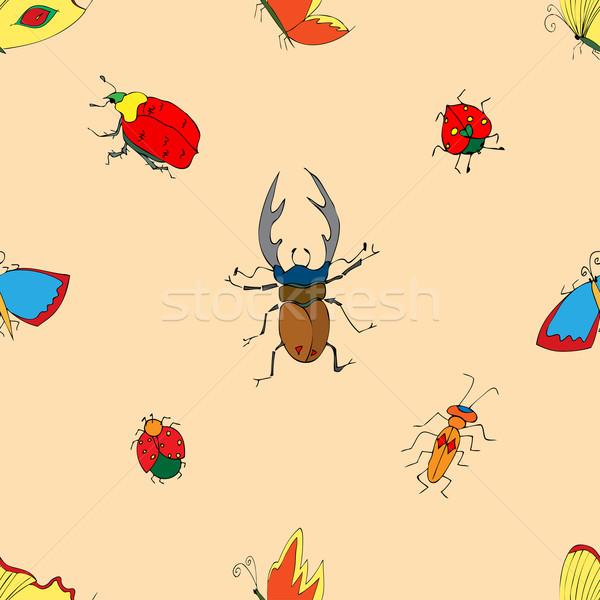Insecten doodle illustratie papier Stockfoto © frescomovie