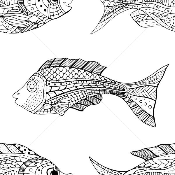 Végtelenített hal kép terv retro úszás Stock fotó © frescomovie