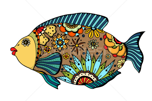 Zentangle stylized Fish Stock photo © frescomovie